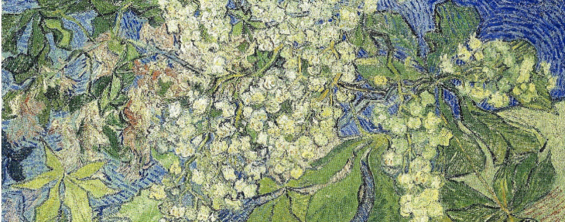 van Gogh's painting 'Blossoming Chestnut