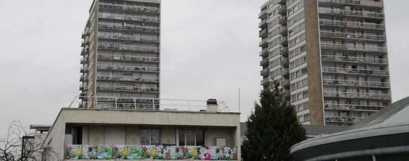 Tristesse in der Pariser Banlieue von Drancy.