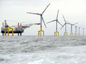 Windpark in der Nordsee. Foto: dpa