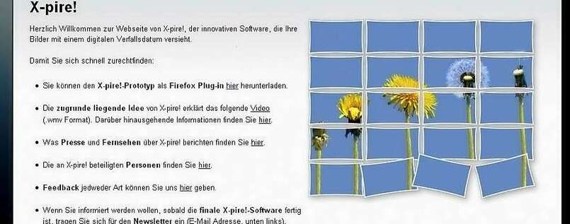 Digital radieren mit der X-pire-Software.