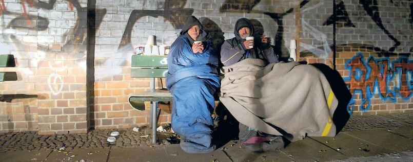 Obdachlose in Berlin. (Archivbild)